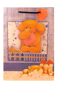 "Пакет подарочный ""Медвежонок"", 19х24х8 см"