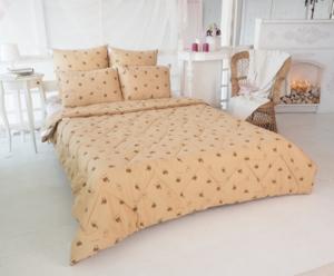 Одеяло 1,5 сп. Верблюжья шерсть 300г/м2, Перкаль