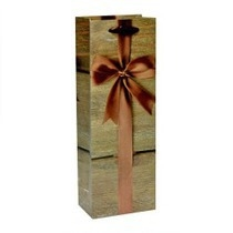 Сумка подарочная LUX под бутылку Бант 13*36*9