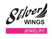 silver Wings-грандиозный Sale Серебряных Украшений