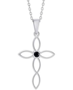 Ожерелье Macy's серебряное с сапфиром