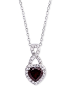 Ожерелье Macy's серебряное с родолитом