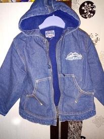 Куртка джинсовая б/у размер 98