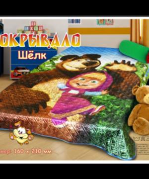 medium-Покрывало шелк Маша и медведь 1.5 сп