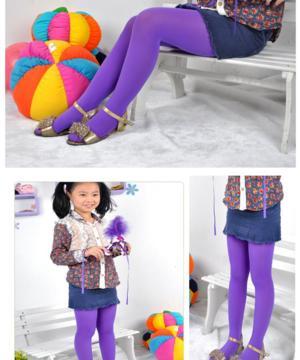 medium-Детские колготки фиолетовые (гладкие)