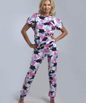 """medium-Комплект с брюками """"ДИАНА"""" (розовый №19)"""