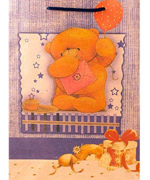 "medium-Пакет подарочный ""Медвежонок"", 19х24х8 см"