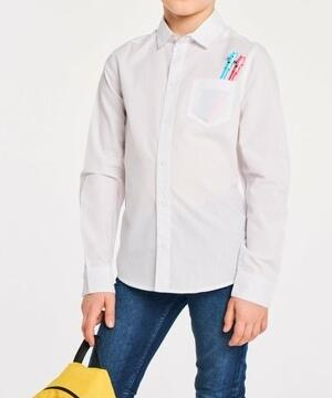 medium-Рубашка белая TM INFuNT 146 р