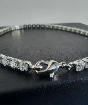 medium-Браслет Macy's серебряный с фианитами